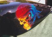Custom Sunset Skull